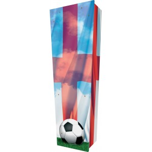 Football / Soccer - Personalised Picture Coffin with Customised Design.